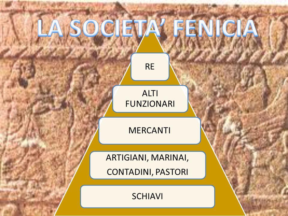 LA SOCIETA' FENICIA RE ALTI FUNZIONARI MERCANTI ARTIGIANI, MARINAI,