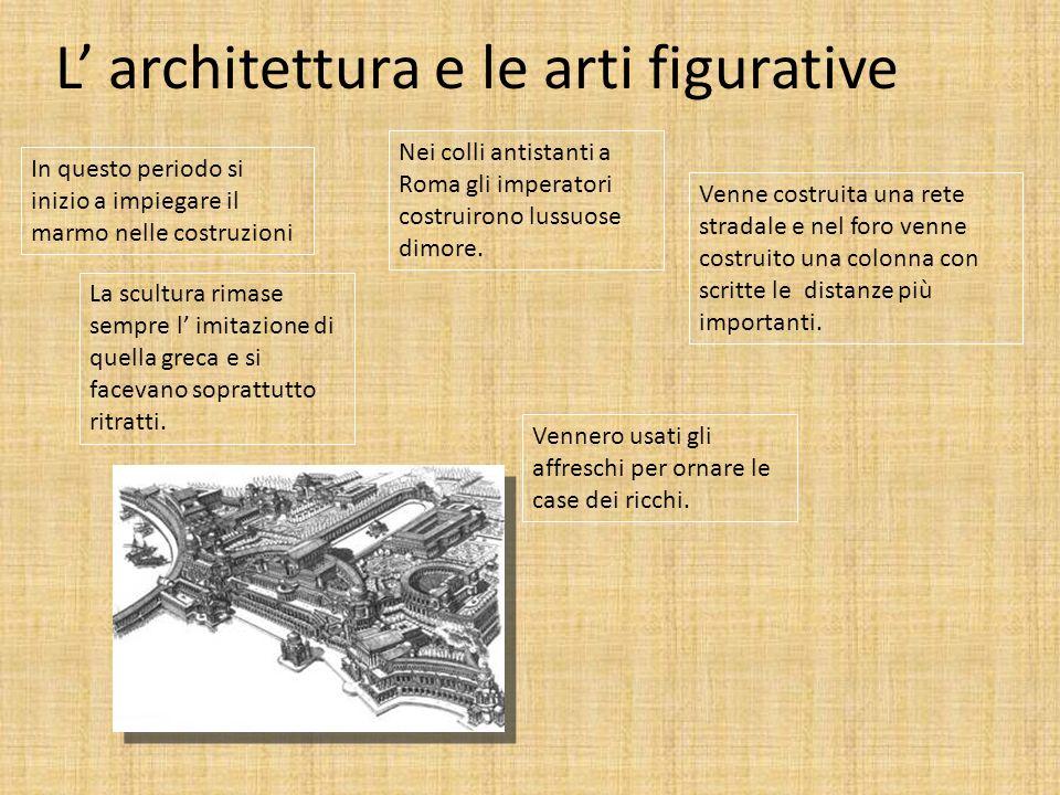 L' architettura e le arti figurative