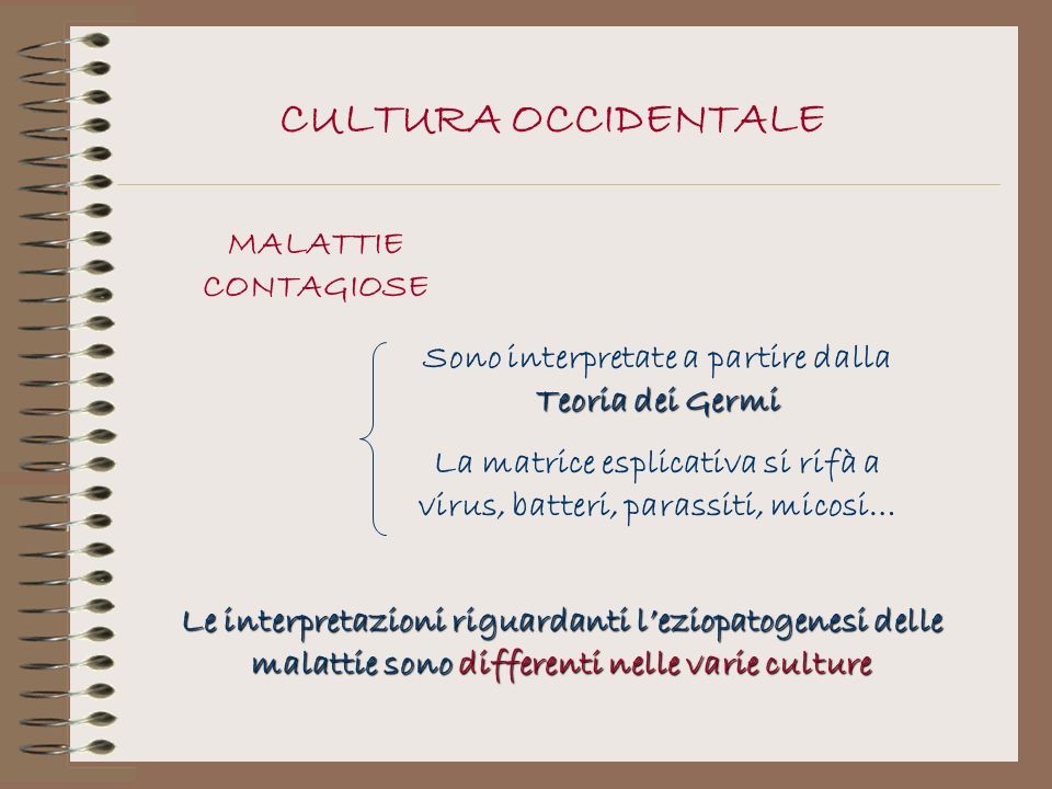 CULTURA OCCIDENTALE MALATTIE CONTAGIOSE