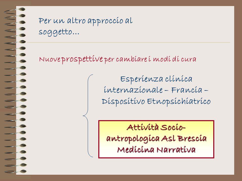 Attività Socio-antropologica Asl Brescia Medicina Narrativa