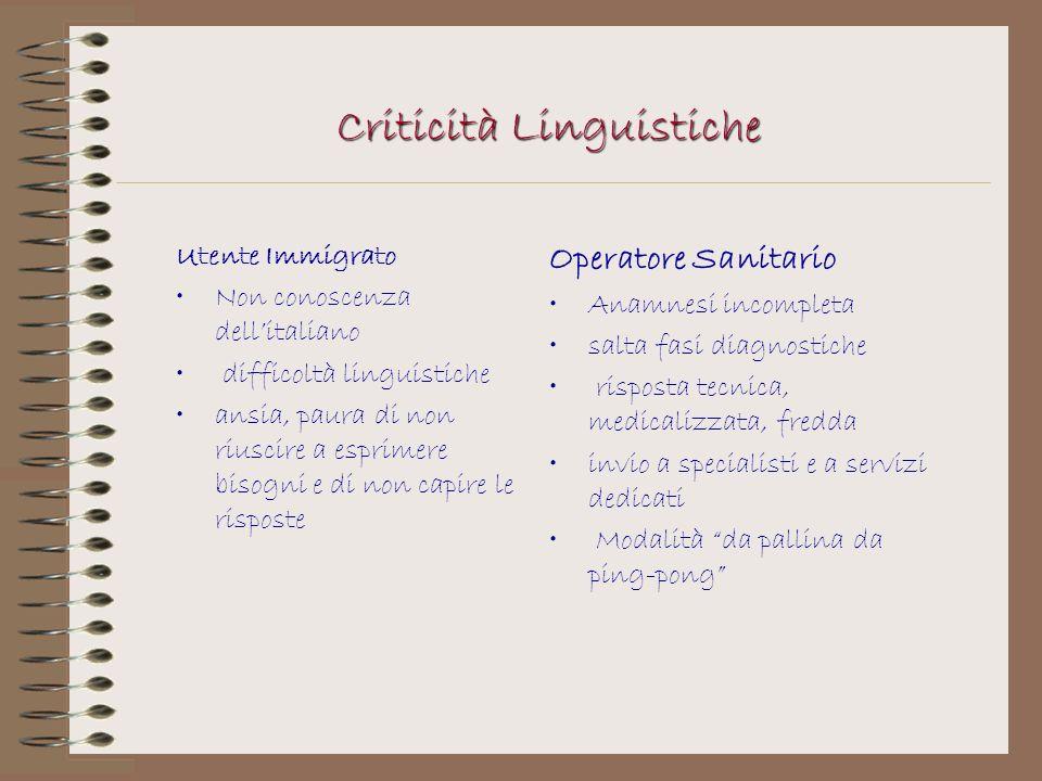 Criticità Linguistiche