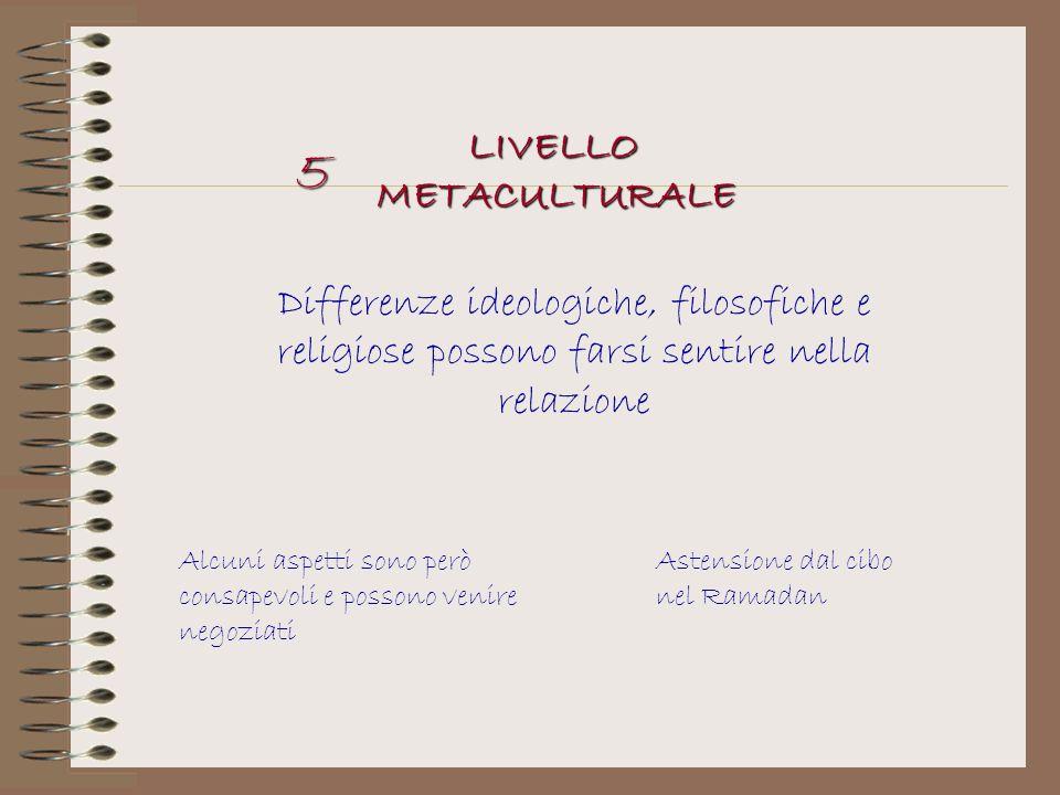5 LIVELLO METACULTURALE