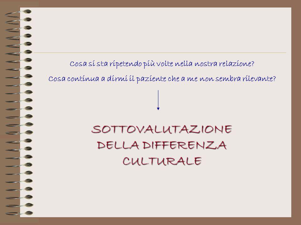 SOTTOVALUTAZIONE DELLA DIFFERENZA CULTURALE