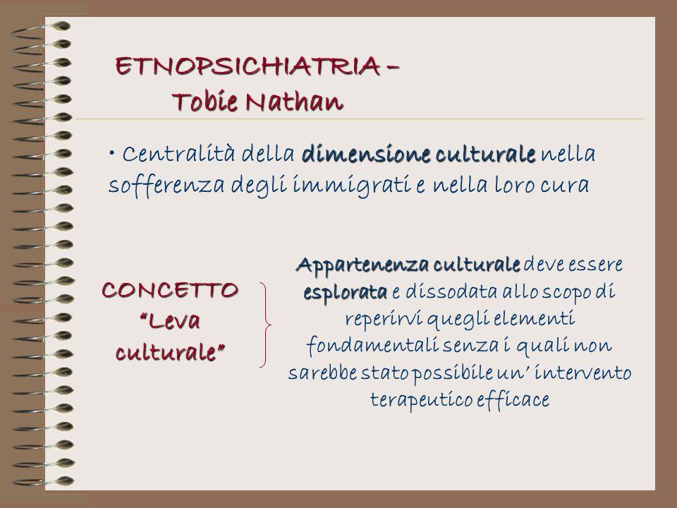 ETNOPSICHIATRIA – Tobie Nathan CONCETTO Leva culturale