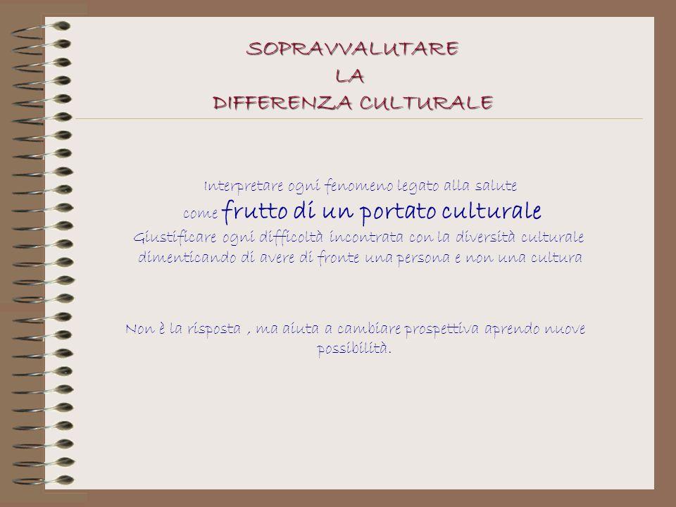 SOPRAVVALUTARE LA DIFFERENZA CULTURALE