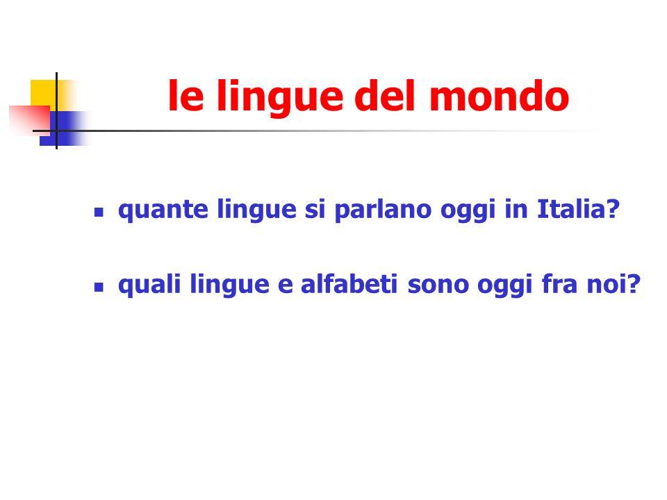 le lingue del mondo quante lingue si parlano oggi in Italia
