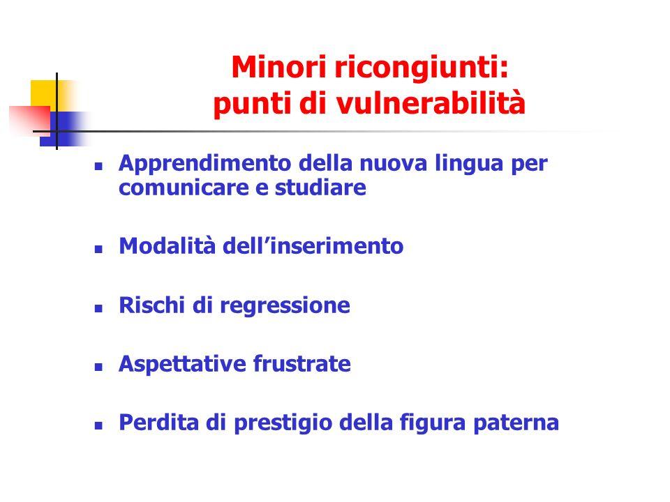 Minori ricongiunti: punti di vulnerabilità