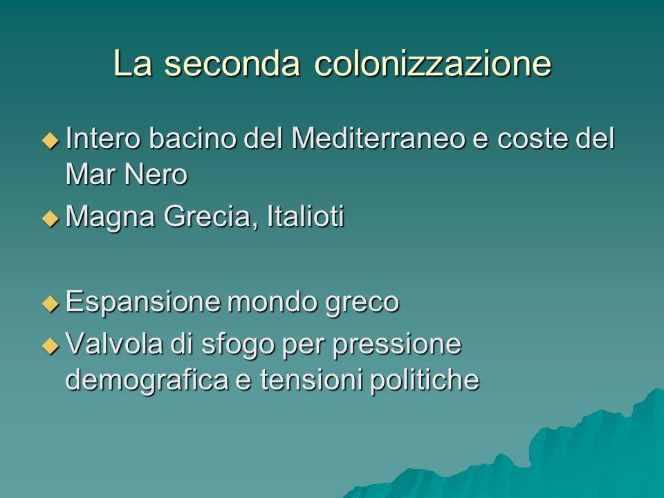 La seconda colonizzazione