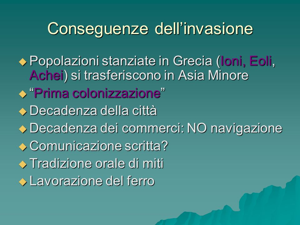 Conseguenze dell'invasione