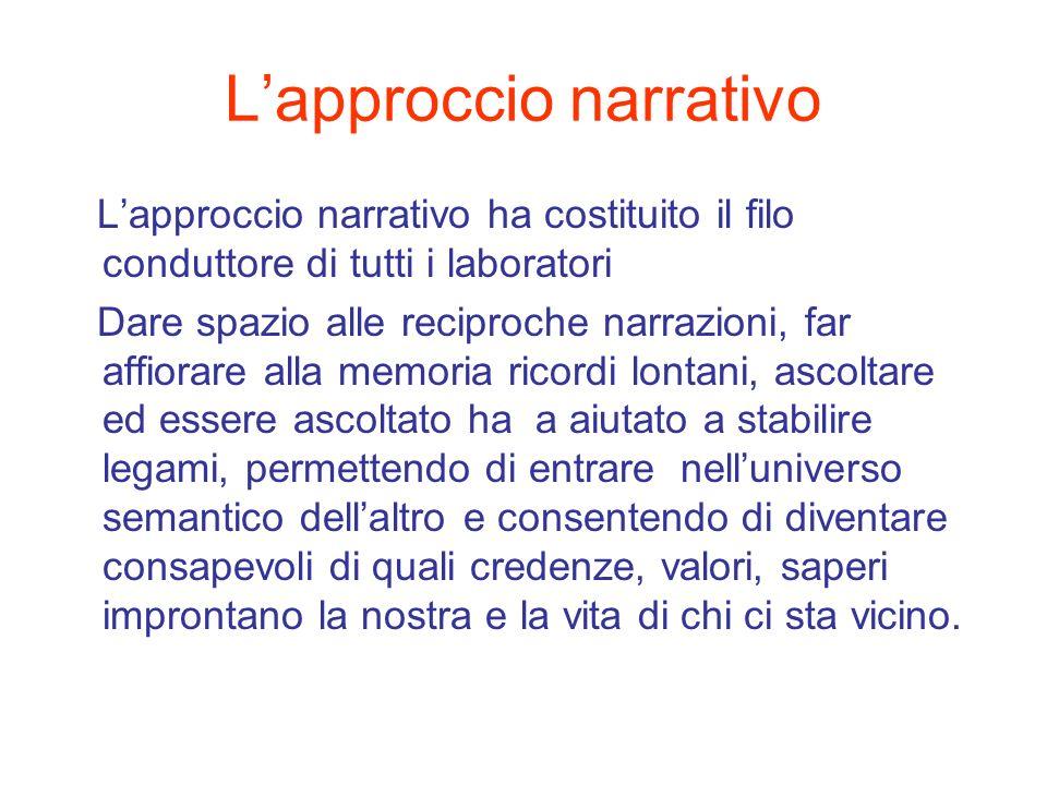 L'approccio narrativo
