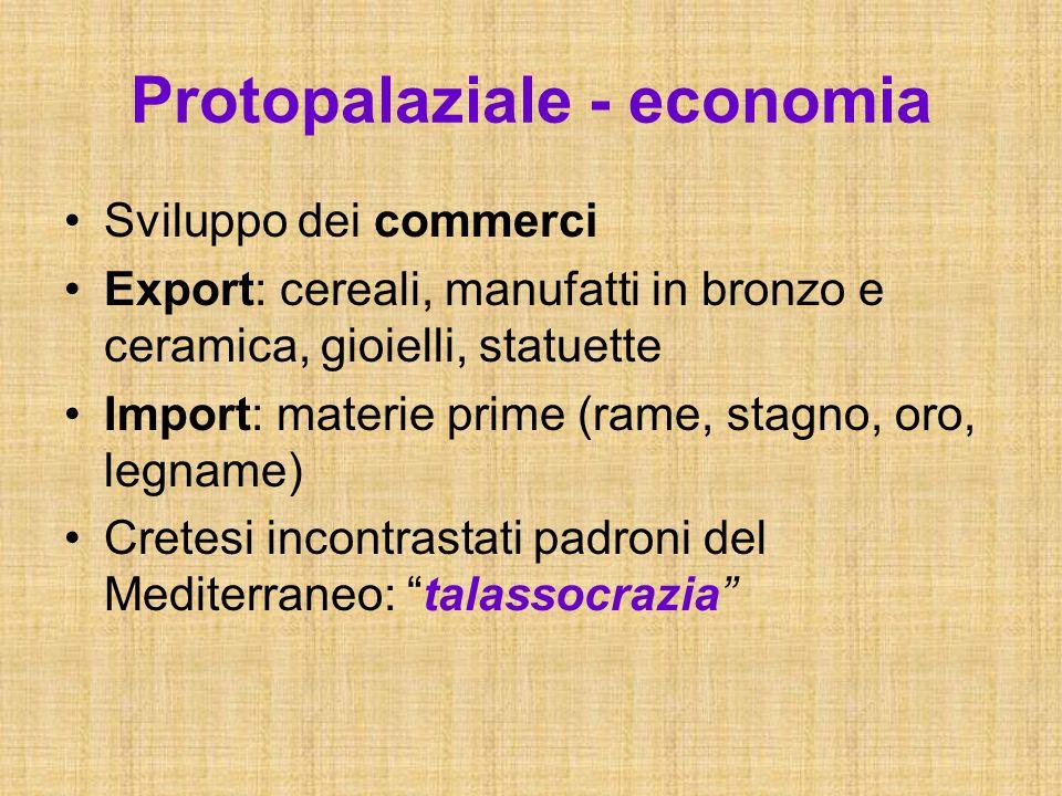 Protopalaziale - economia