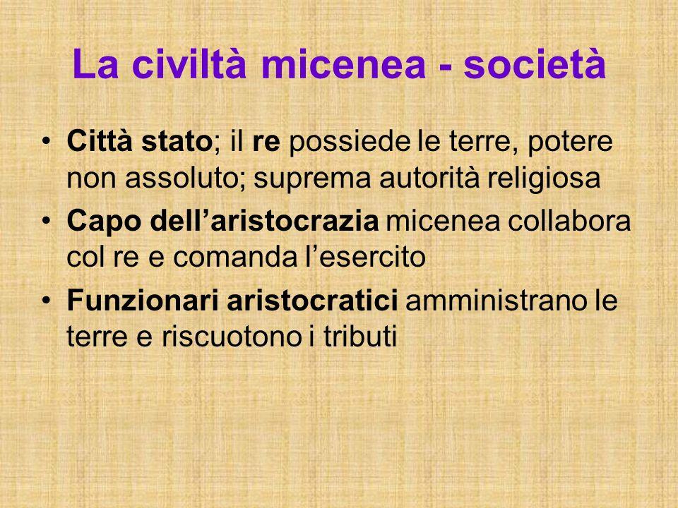 La civiltà micenea - società