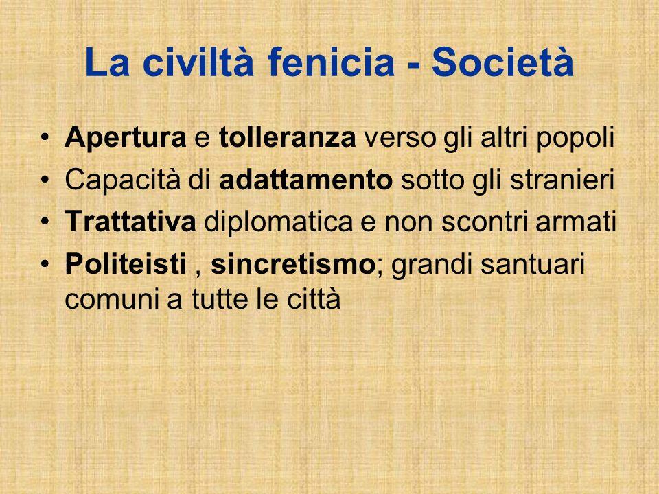 La civiltà fenicia - Società