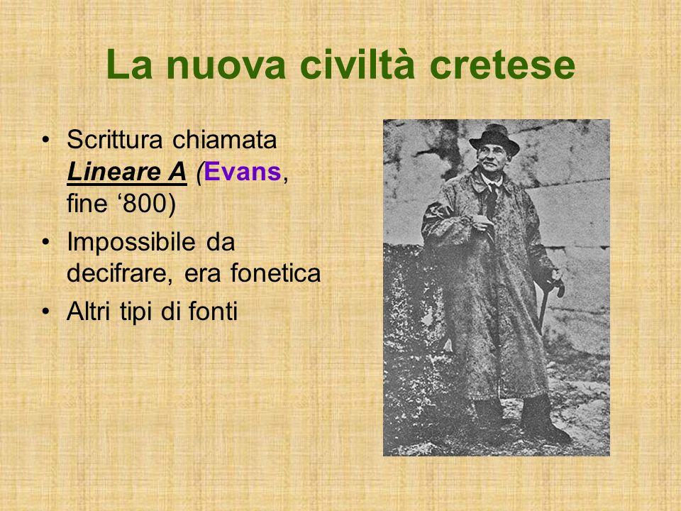 La nuova civiltà cretese