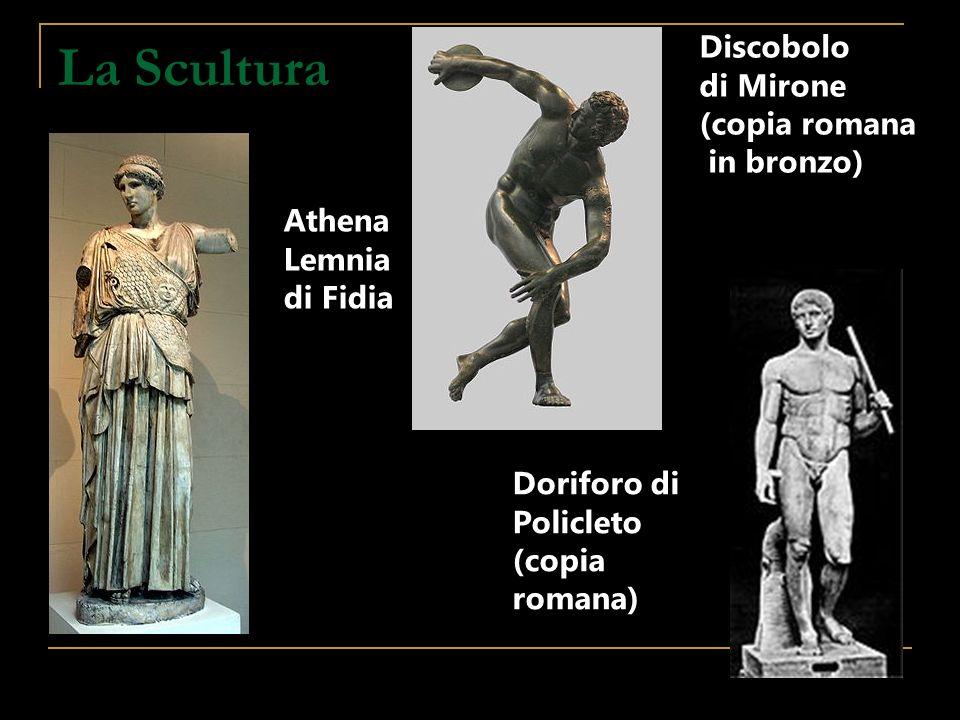 La Scultura Discobolo di Mirone (copia romana in bronzo) Athena Lemnia