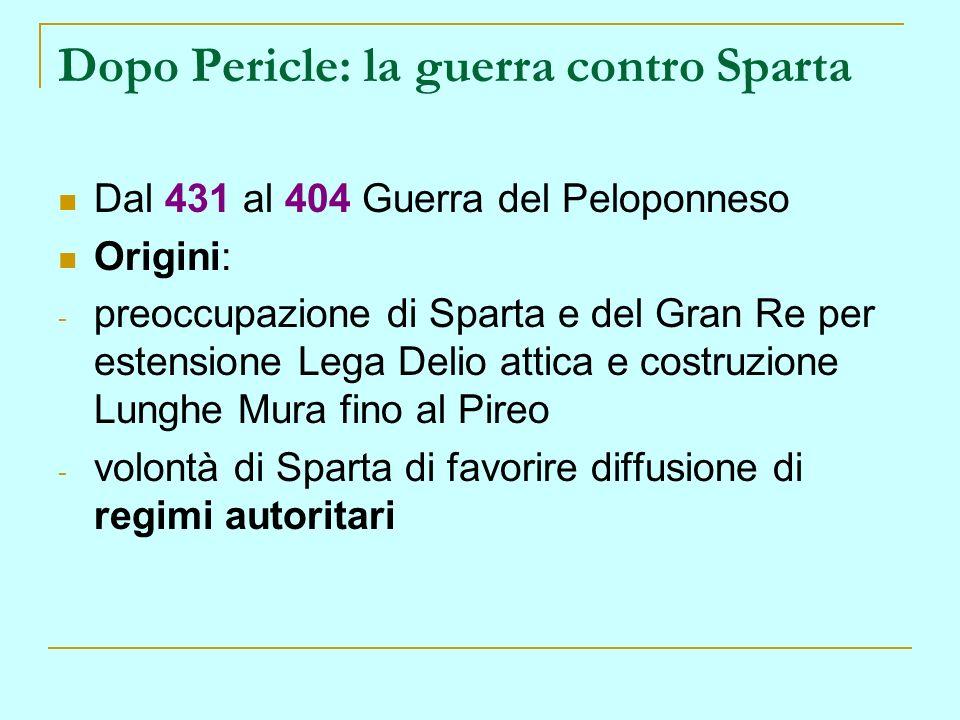 Dopo Pericle: la guerra contro Sparta