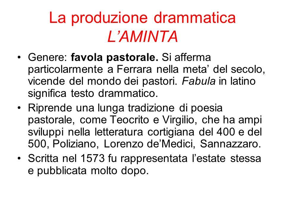 La produzione drammatica L'AMINTA