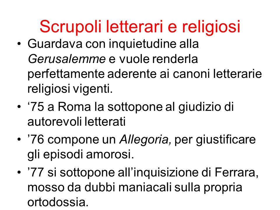 Scrupoli letterari e religiosi