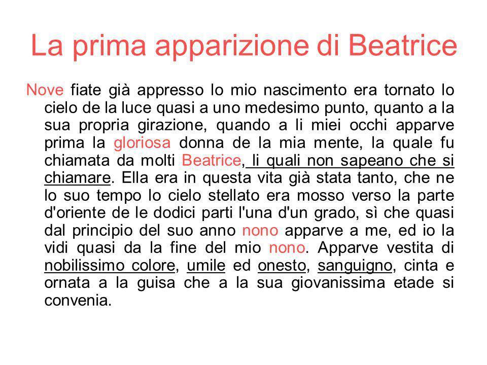 La prima apparizione di Beatrice