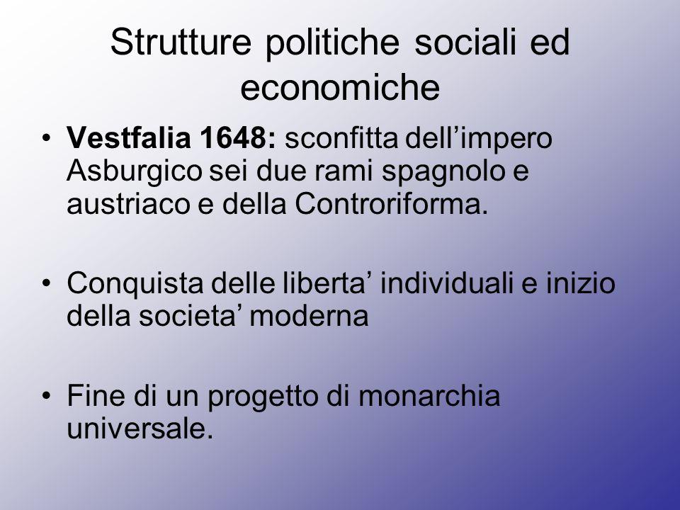 Strutture politiche sociali ed economiche