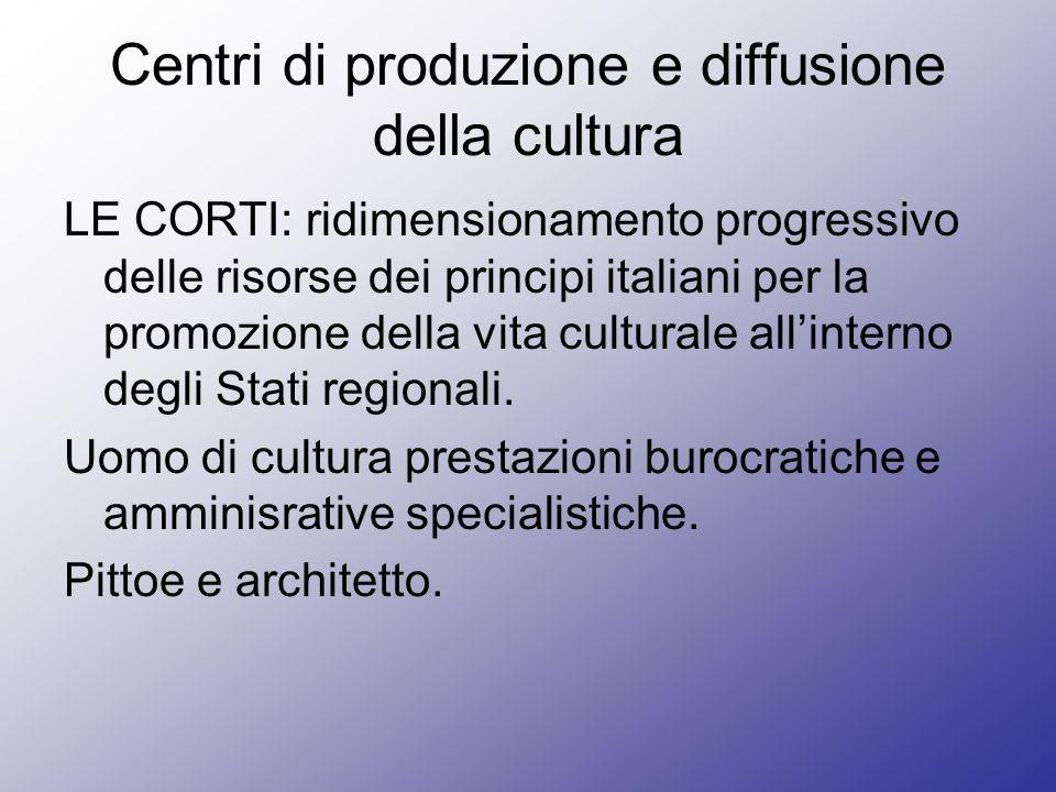 Centri di produzione e diffusione della cultura