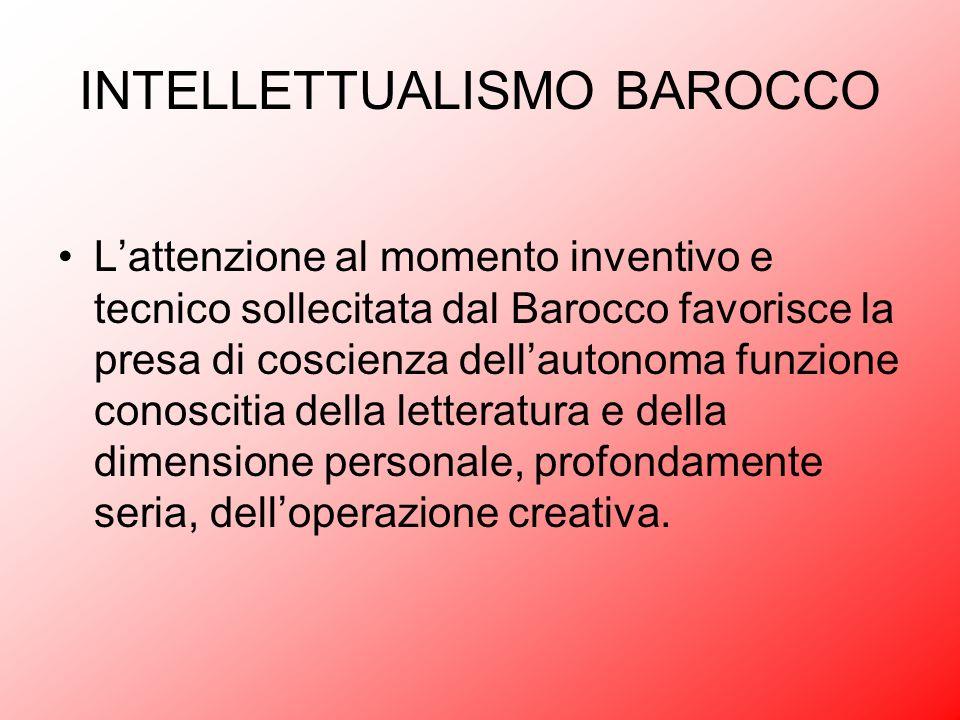 INTELLETTUALISMO BAROCCO