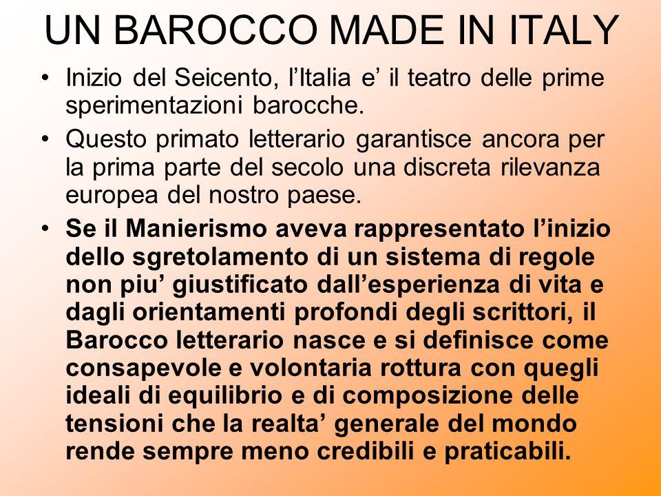 UN BAROCCO MADE IN ITALY