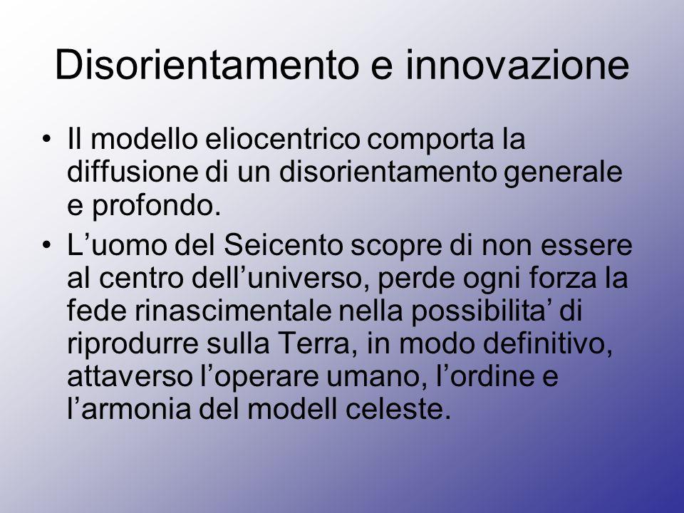 Disorientamento e innovazione