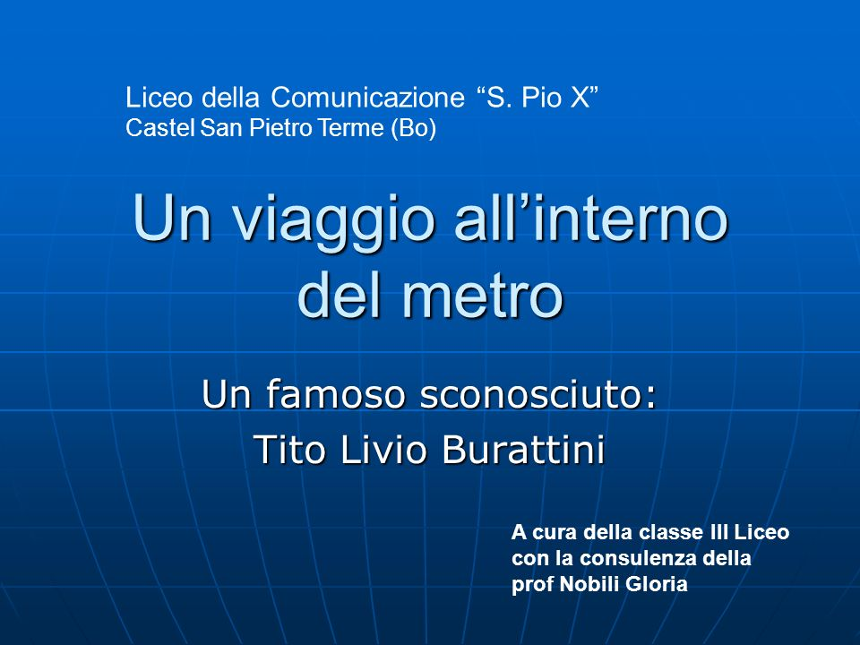 Un viaggio all'interno del metro