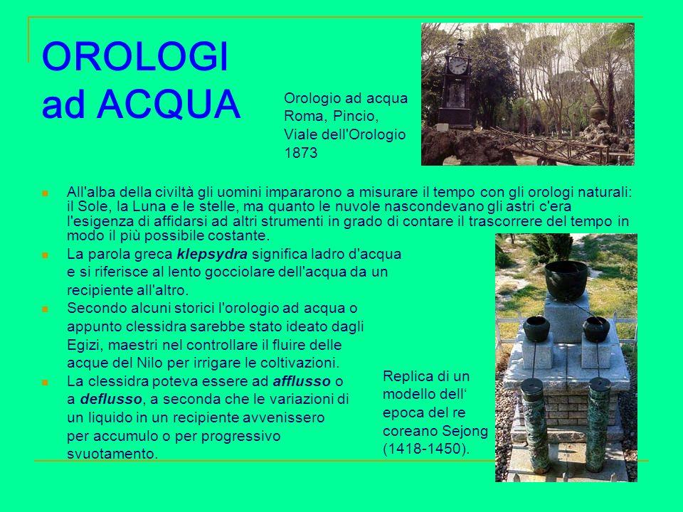 OROLOGI ad ACQUA Orologio ad acqua Roma, Pincio, Viale dell Orologio