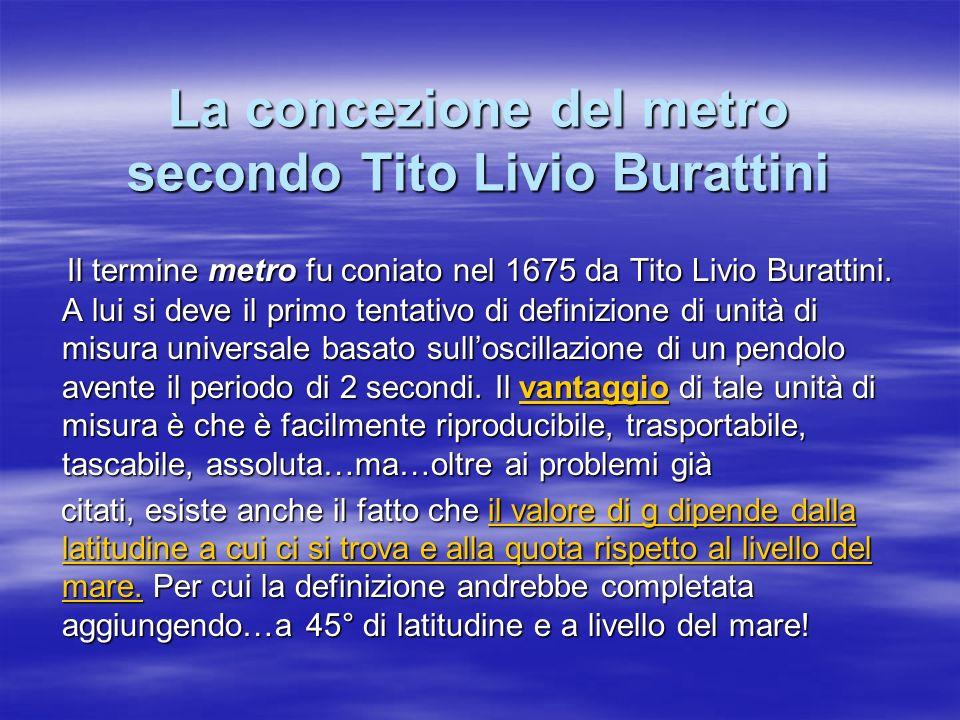 La concezione del metro secondo Tito Livio Burattini