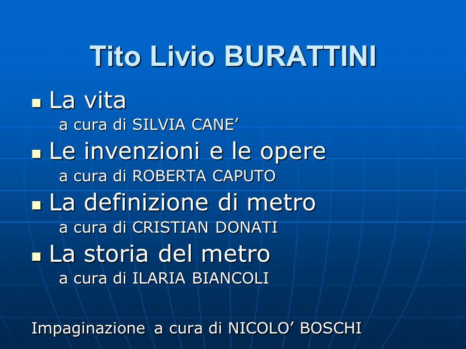Tito Livio BURATTINI La vita Le invenzioni e le opere