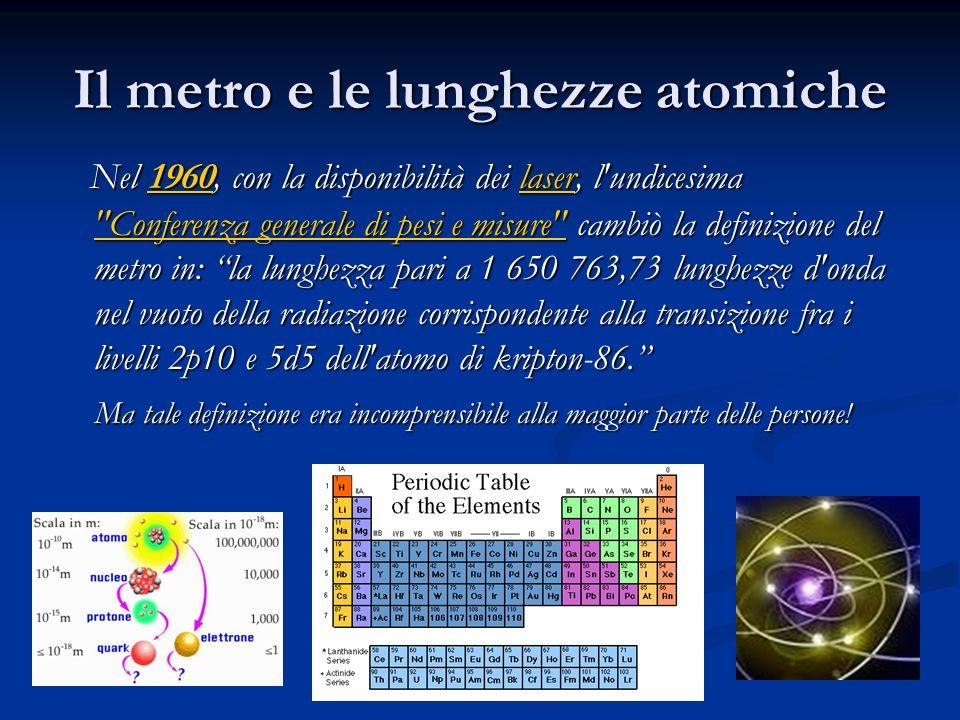 Il metro e le lunghezze atomiche