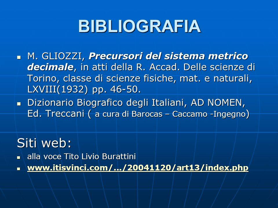 BIBLIOGRAFIA Siti web: