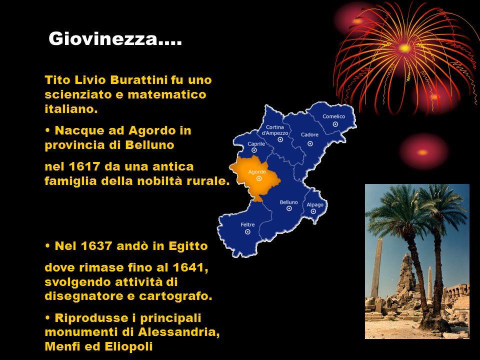 Giovinezza…. Tito Livio Burattini fu uno scienziato e matematico italiano. Nacque ad Agordo in provincia di Belluno.
