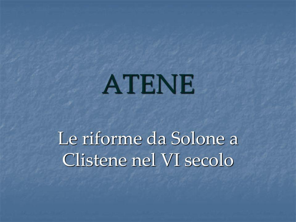 Le riforme da Solone a Clistene nel VI secolo