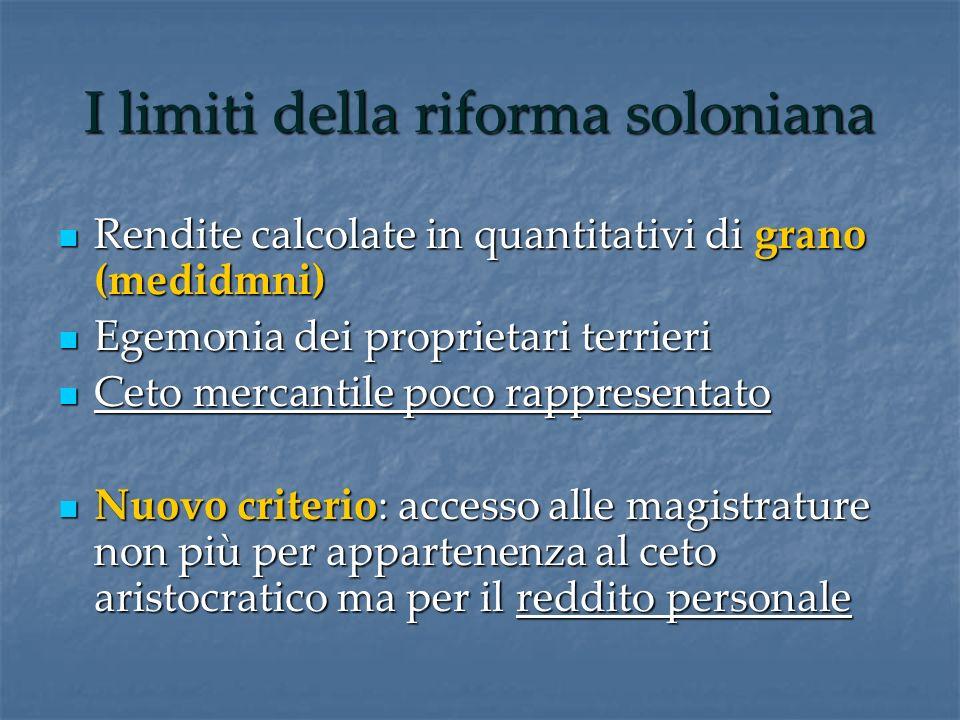 I limiti della riforma soloniana