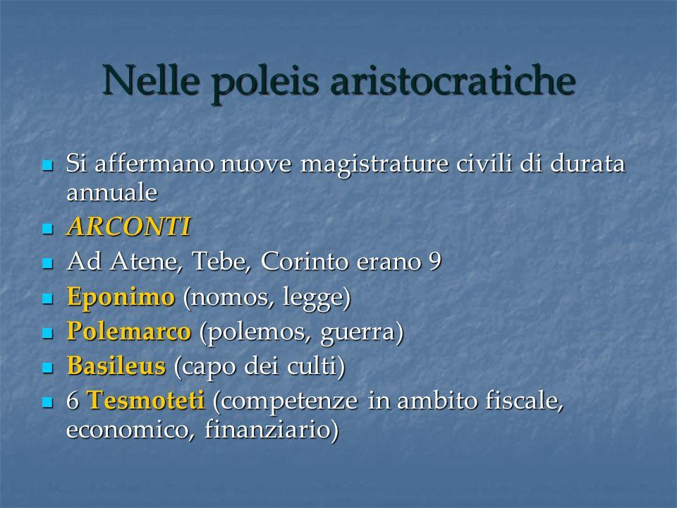Nelle poleis aristocratiche
