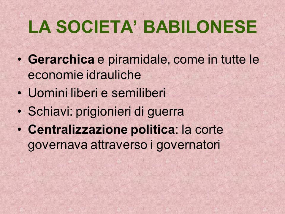 LA SOCIETA' BABILONESE