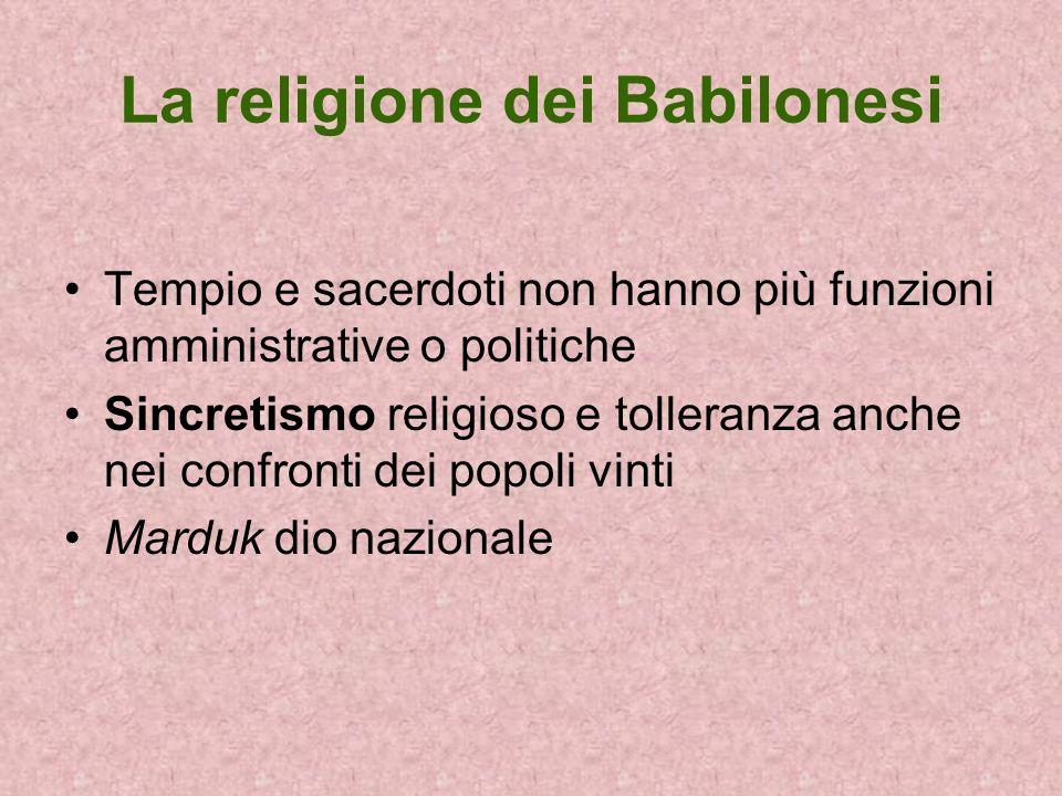 La religione dei Babilonesi