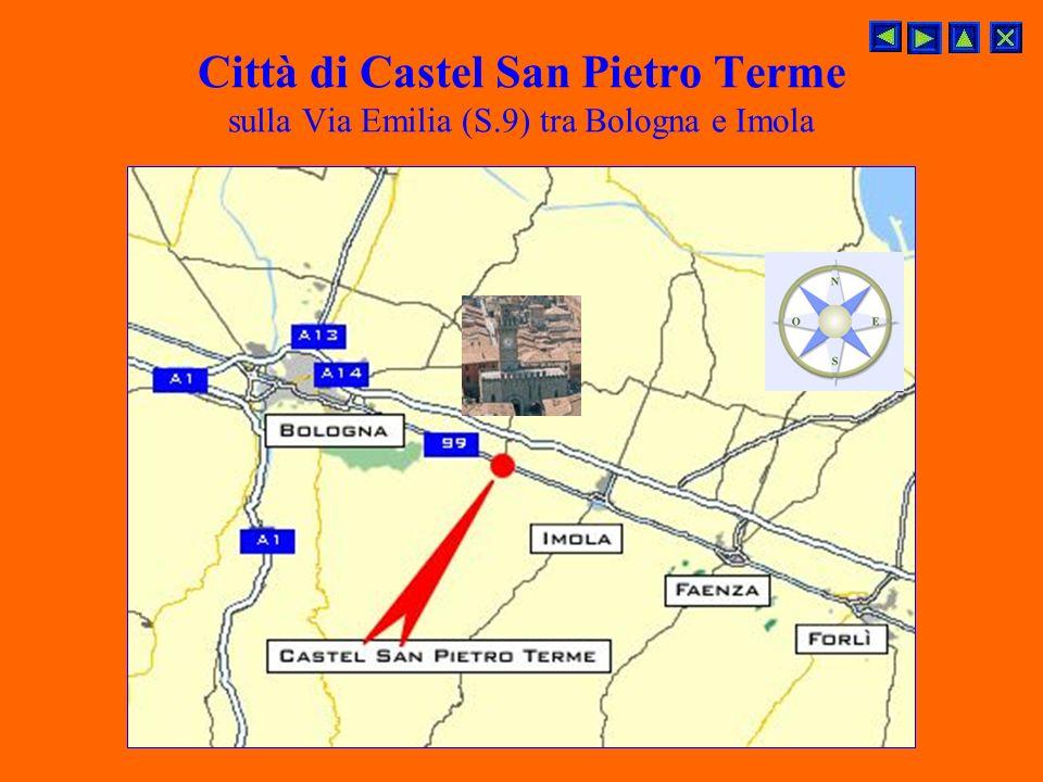 Città di Castel San Pietro Terme sulla Via Emilia (S