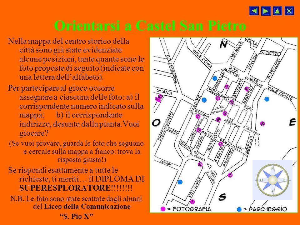 Orientarsi a Castel San Pietro