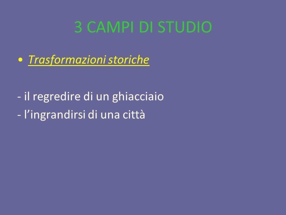 3 CAMPI DI STUDIO Trasformazioni storiche