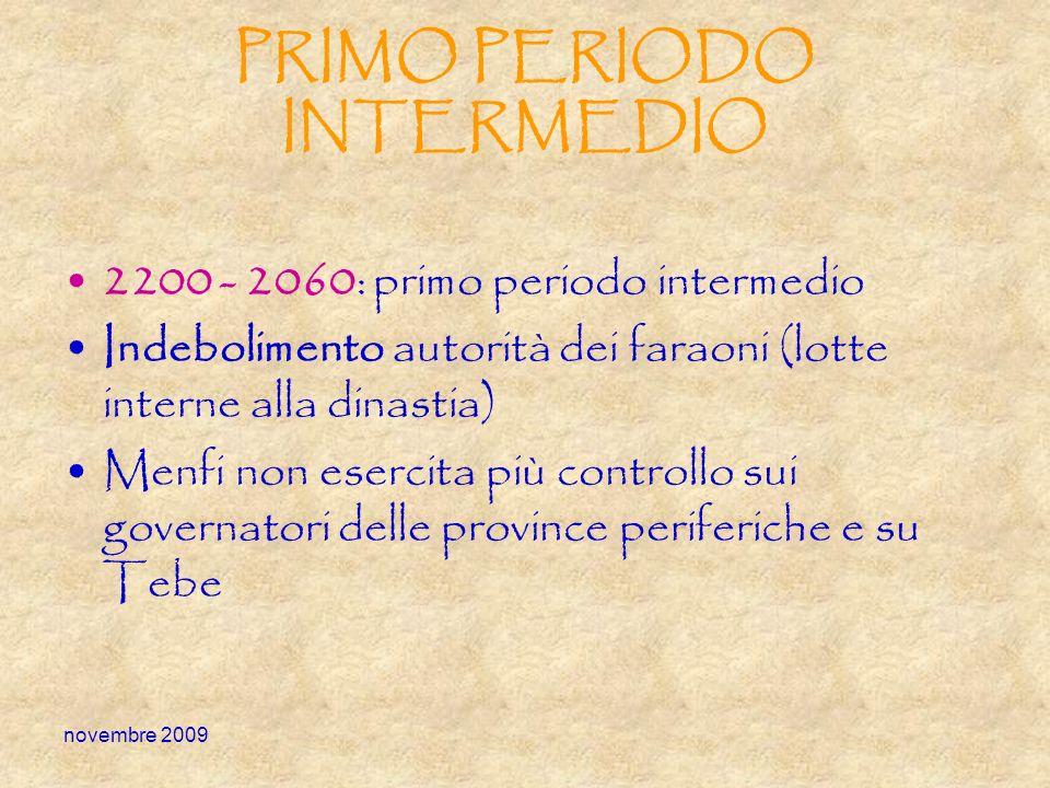 PRIMO PERIODO INTERMEDIO