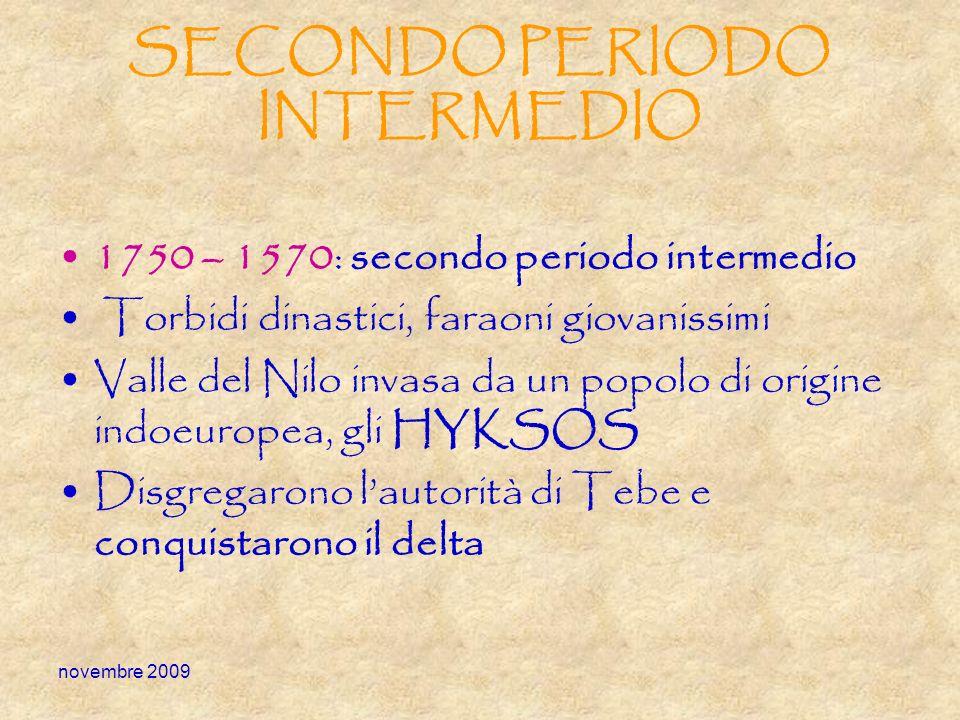 SECONDO PERIODO INTERMEDIO