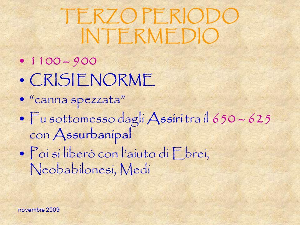 TERZO PERIODO INTERMEDIO