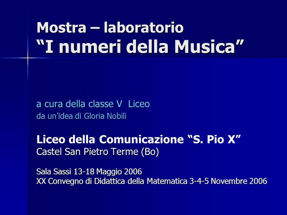 Mostra – laboratorio I numeri della Musica