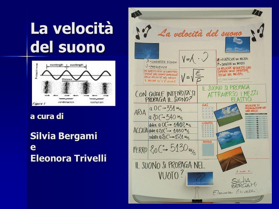 La velocità del suono a cura di Silvia Bergami e Eleonora Trivelli