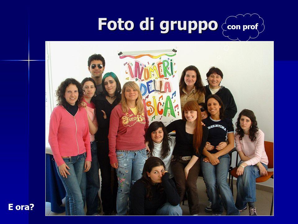 Foto di gruppo con prof E ora