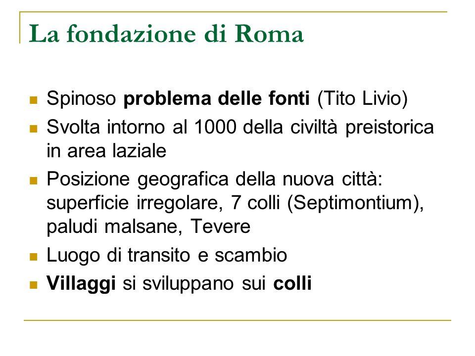 La fondazione di Roma Spinoso problema delle fonti (Tito Livio)